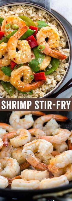 Easy shrimp stir-fry recipe ready in 30 minutes or less! Tender pieces of succulent shrimp, crunchy snow peas, and red bell peppers tossed in a sweet and savory orange sauce with a hint of spiciness! via @foodiegavin #AD @naturesintenttv