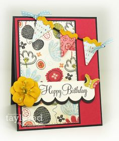 Debbie Carriere, Scrappin' My Heart Out: August Key Ingredients Birthday Card