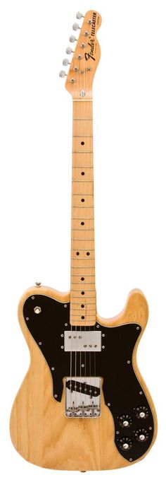 Fender Electric Guitar | 1974 Telecaster Custom | Rainbow Guitars.  Natural finish with a black guard.