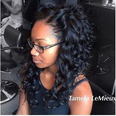 """""""STYLIST FEATURE  Love this #SewIn with #wandcurls styled by #atlstylist @tamelalemieux ➰ Simply chic❤️ #VoiceOfHair"""""""