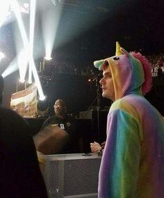 John Mayer at a concert in a unicorn onesie.  Be still my heart.