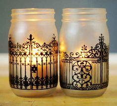 Set of Two Spooky Mason Jars | 15 Handmade Halloween Items You Can Enjoy All Year