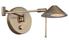 Antique Brass Swing Arm Lite Source Wall Lamp