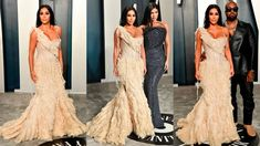 Vanity Fair Oscar Party, Jenners, Oscars, Kim Kardashian, Fashion Looks, Book, How To Wear, Dresses, Style