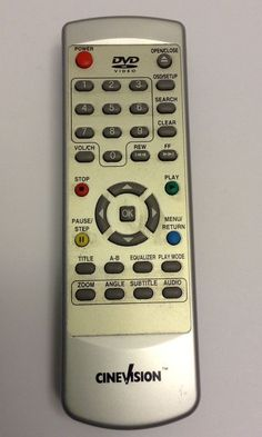 CINEVISION HTF2175D3 DVD Remote Control Tested Working HO-35A2-1 EUC  | eBay
