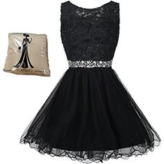 304eaa4828ad Yougao Women s Tulle Short Applique Beading Formal Homecoming Cocktail  Party Dress