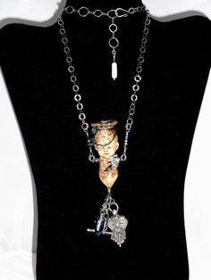 Annabel Lee, Repurposed Antique doll Torso Pendant