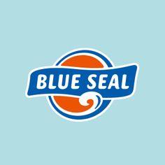 ブルーシール(BLUE SEAL)のロゴマーク。 アメリカ生まれ、沖縄育ちのアイスクリームブランドです。