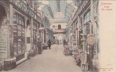 The Old Arcade between Market and Commissioner Streets. Johannesburg City, Historical Pictures, African History, Back In The Day, Old Photos, Picture Photo, Arcade, South Africa, Landscape Photography