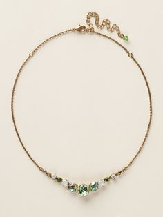 Delicate Round Crystal Necklace in Green Apple by Sorrelli - $75.00 (http://www.sorrelli.com/products/NCQ14AGGA)