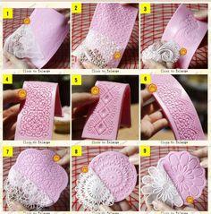 Classics Lace Shaped Silicone Mold Mould Fondant Cake Decoration Baking Tools