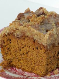 Pine Cones and Acorns: Pumpkin Cake with Brown Sugar Glaze