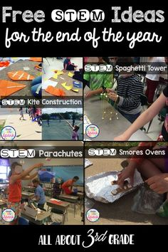 Free STEM ideas for the end of the school year