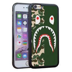 Bape Shark Cellphone Case Cover for iPhone 7,Iphone 6s,Iphone 5s SE,7Plus,6Plus #VONDER