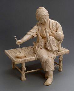 forma es vacío, vacío es forma: Okimono - talla, artesanía, escultura