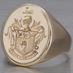mens victorian ring | Victorian Men's Signet Ring