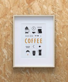 15 Coffee Posters To Hang Above Your Coffee Station | Hang this simple graphic above your coffee station to remind you of the elements required to make the perfect cup.