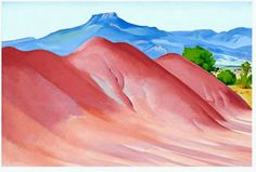 Red Hills and Pedernal, 1936, Georgia O'Keeffe