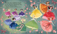 illustration from Twelve Dancing Princesses by Brigette Barrager