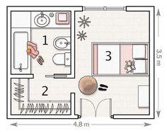 DORMITORIOS: decorar dormitorios fotos de habitaciones recámaras diseño y decoración: PLANOS DE DORMITORIO
