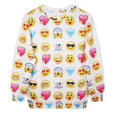 Emoji sweat shirt #goals   http://m.aliexpress.com/item/32328851428.html