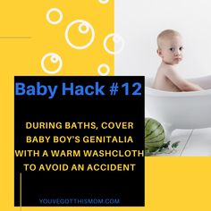 Here is a life saving, relaxing bath time hack for baby boys! Click to read 9 more tips for newborns, infants, and toddlers.