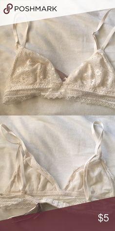 3aaf5d257c Victoria secret white lace bralette Victoria secret Delicate lace bralette  Adjustable straps