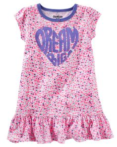 Kid Girl Dream On Sleep Gown from OshKosh B'gosh. Shop clothing & accessories from a trusted name in kids, toddlers, and baby clothes.