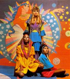 The Apple Boutique, 1967.  Love these clothing designs by The Fool--bold color & sumptuous fabrics are something we still adore!