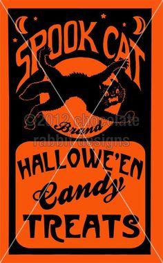 vintage chocolate labels | Vintage Halloween Candy Label Digital Collage Sheet Download Image ...