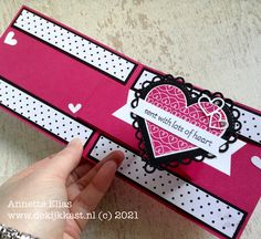 Valentine Cards, Valentines, Ink Stamps, Folded Cards, Pop Up, Stamping, Card Ideas, Catalog, Hearts