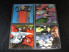 Star Trek TNG Repurposed Comic Coaster Set by EpicButtons on Etsy, $25.00