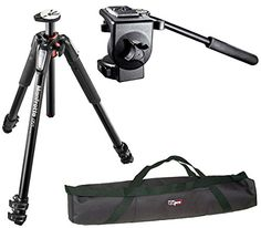 Introducing Manfrotto Professional Video Tripod Kit MT055XPRO3 Aluminium 3Section Tripod with Horizontal Column and 128RC Micro Fluid Head with a Vidpro 35 Padded Case. Great product and follow us for more updates!