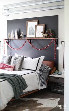 How to Style a Modern Bedroom for Christmas