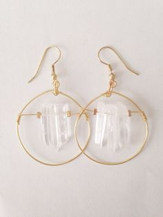 i love these raw crystal quartz earrings by azdouhi jewelry. giveaway  on ohdeardrea blog.