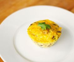 Sausage & Cheese Breakfast Cups  A great grab-and-go breakfast you can make the night before, these cups mix in a delicious blend of savory ingredients for a flavor explosion.  Calories 140  Carbohydrates 4g  Fat 9g  Protein 12g