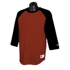 half off 7a5f7 eed89 Champion Men s Scarlet Black Baseball T-Shirt