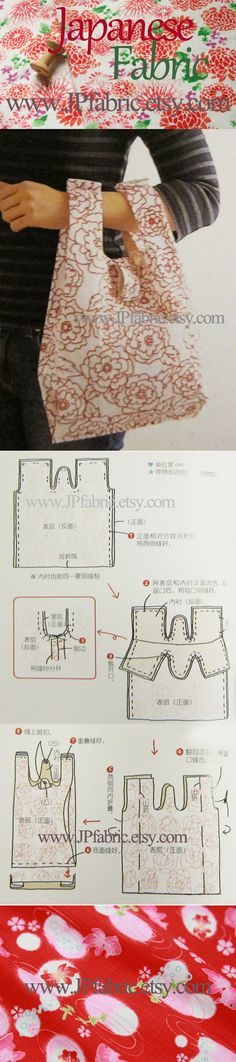 Free tote bag pattern. How to sew flat tote bag. DIY bag ideas