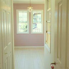 DECORA_kanaさんの、ナチュラル,ホワイト,クローゼット,造作窓,格子窓,ピンク,子供部屋女の子,入居前,ベッド周り,のお部屋写真