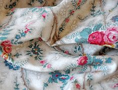 vintage french 1930s fabric ~ petits details
