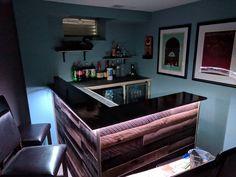 Built a Basement Bar! Basement Bar For Sale, Basement Bar Plans, Basement Bar Designs, Building A Basement, Diy Bar, Furniture Decor, Man Cave, Entryway Tables, Home Improvement
