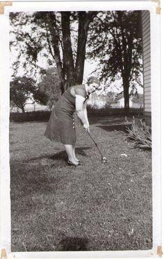 vintage croquet photo