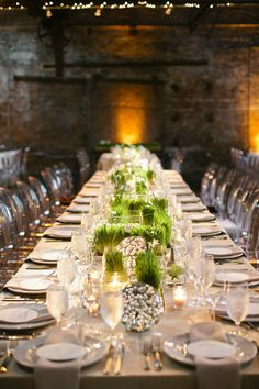 Grasses & ghost chairs. Ummm... stunning. Rehearsal Dinner ~ Photography by http://msp-photography.com