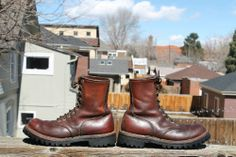 Vintage RED WING IRISH SETTER Leather Work/Sport Boot Men's Size 8 D