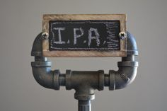 Iron Steel Pipe Tap Handle - Industrial Beer Tap Handle with Chalkboard on Etsy, $60.00