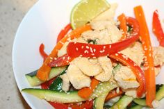 This chicken stir-fry dish is a weekly staple in our house, it is bright, crunchy, tasty & quick to make. Fast week night dishes are very important to me, because I work full time & have a young family.... making me, like you, stretched for time. The reason that I wanted to post this dish…