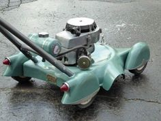 Push mower with taillights