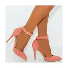be88f0a58b1a Shoe closet would like to present to you these coral pink faux suede  pointed stiletto high heel shoes.