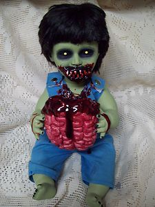 Zombie Baby Snacking Sammy Halloween Haunted House Prop   eBay