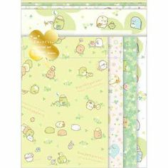 San-x Sumikko Gurashi Letter set (green) ★ corner walk ★